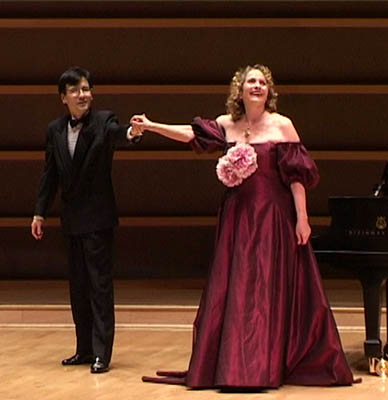 Ken Noda with Hildegard Behrens at the Kimmel Center
